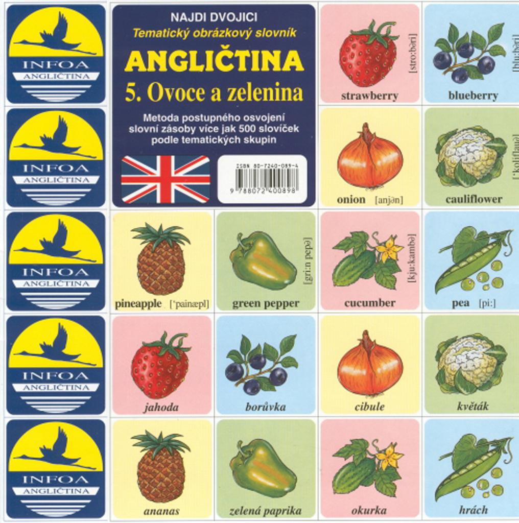 Angličtina 5. Ovoce a zelenina