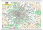 Praha, nástěnná mapa