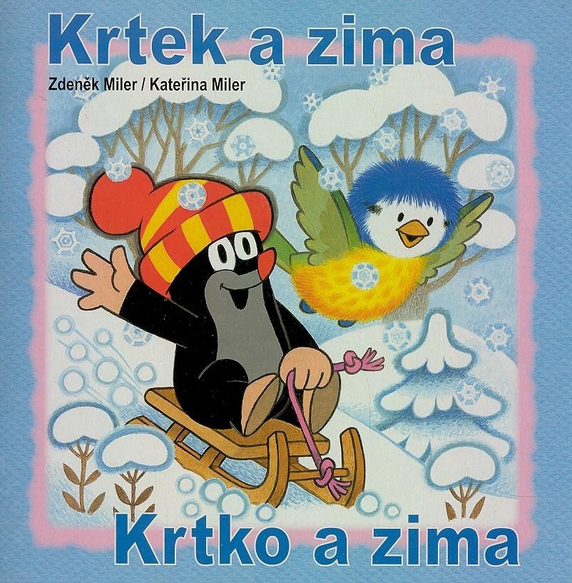 Krtek a zima - omalovánka - Kateřina Miler