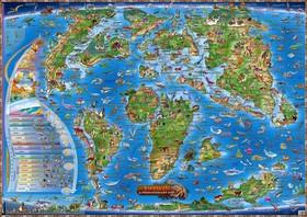 Dětská mapa Prehistorický svět