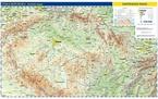 Česká republika obecně zeměpisná mapa, nástěnná mapa 1:500 000