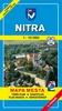 Nitra 1:10 000 Mapa mesta Town plan Stadtplan Plan miasta Várostérkép, Mapa mesta s mapou okolia 1:50 000