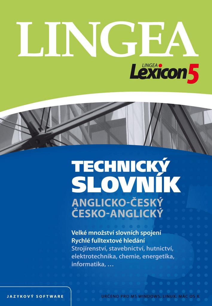 Lexicon5 Technický slovník Anglicko-český, Česko-anglický