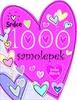 1000 samolepek Srdce -