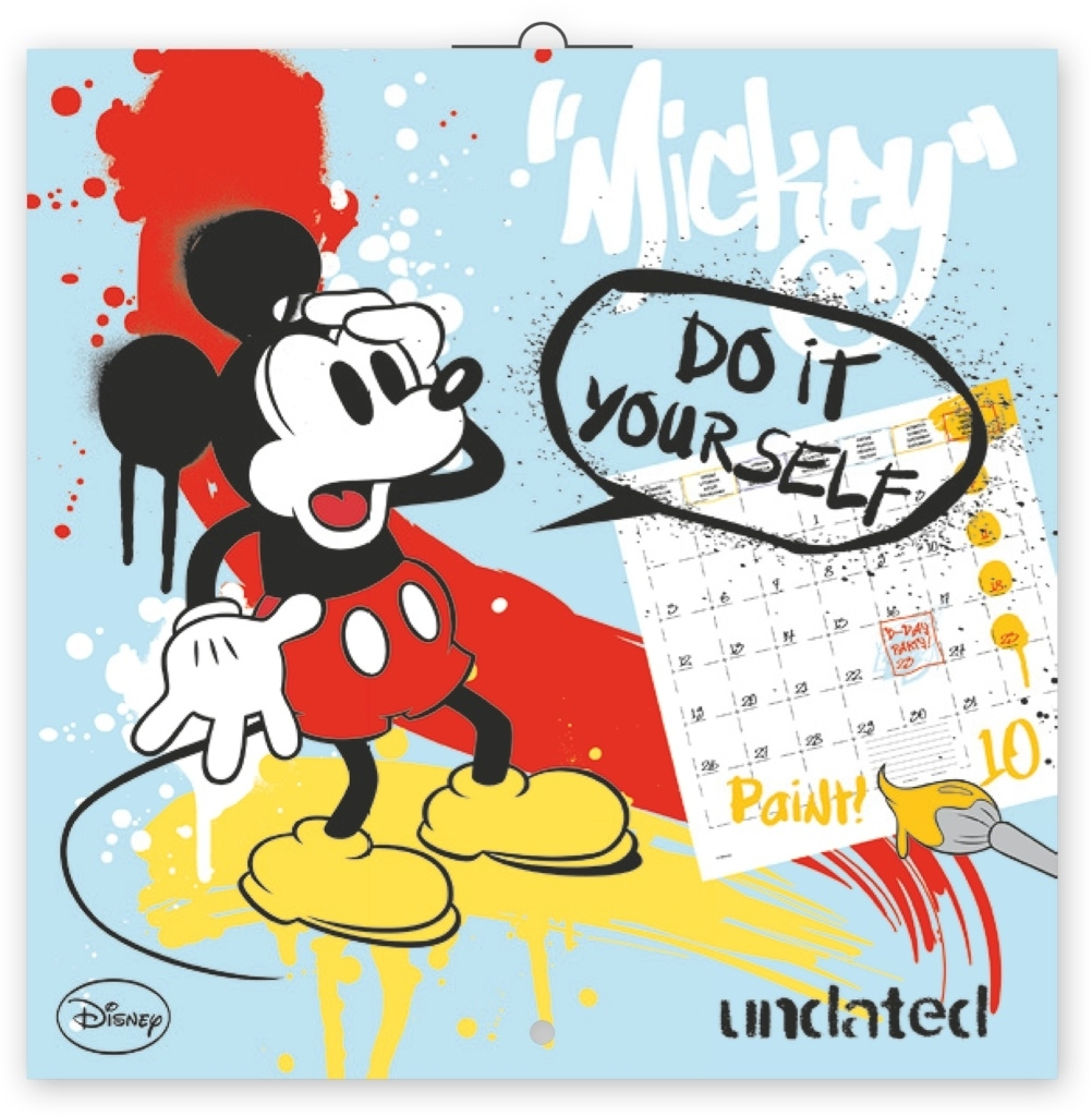 Mickey Mause omalovánkový poznámkový - nástěnný kalendář - Walt Disney