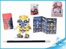 BOX Figurka Transformers s puzzle kartičkou II. serie, 4cm 15druhů v sáčku 30ks v DBX s jednotlivými figurkami ICK 0173618