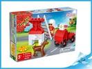Banbao stavebnice Fire Young Ones, Figurka Tobees hasič s doplňky 9ks v krabičce