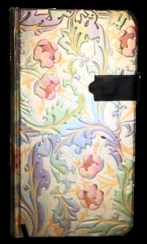 Zápisník s magnet. klipem 85x160 duhové