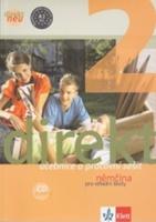 Balíček 5 ks Direkt NEU 2 Němčina pro SŠ, Učebnice+ pracovní sešit, 2CD,cvičebnice německé gramatiky, nejčastější chyby