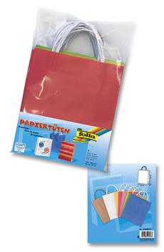 Papírové tašky s papírovým uchem 18x21 cm 7 kusů