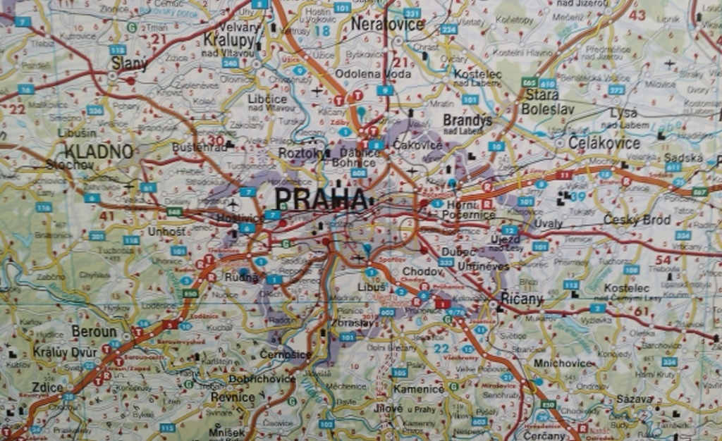 Nástěnná mapa Česká republika