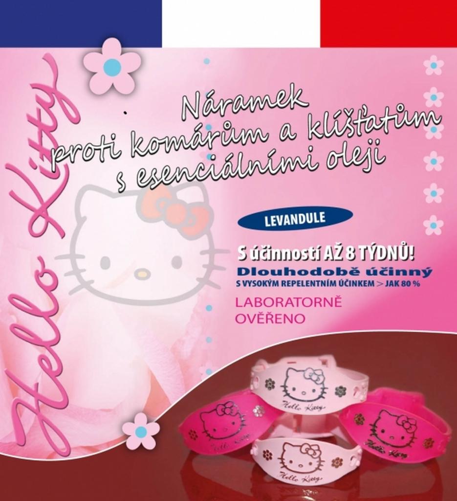 Repelentní náramek Hello Kitty světle růžový