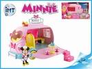 Minnie auto cukrárna 25cm na baterie se světlem a zvukem, s kloubovou figurkou a doplňky v krabičce