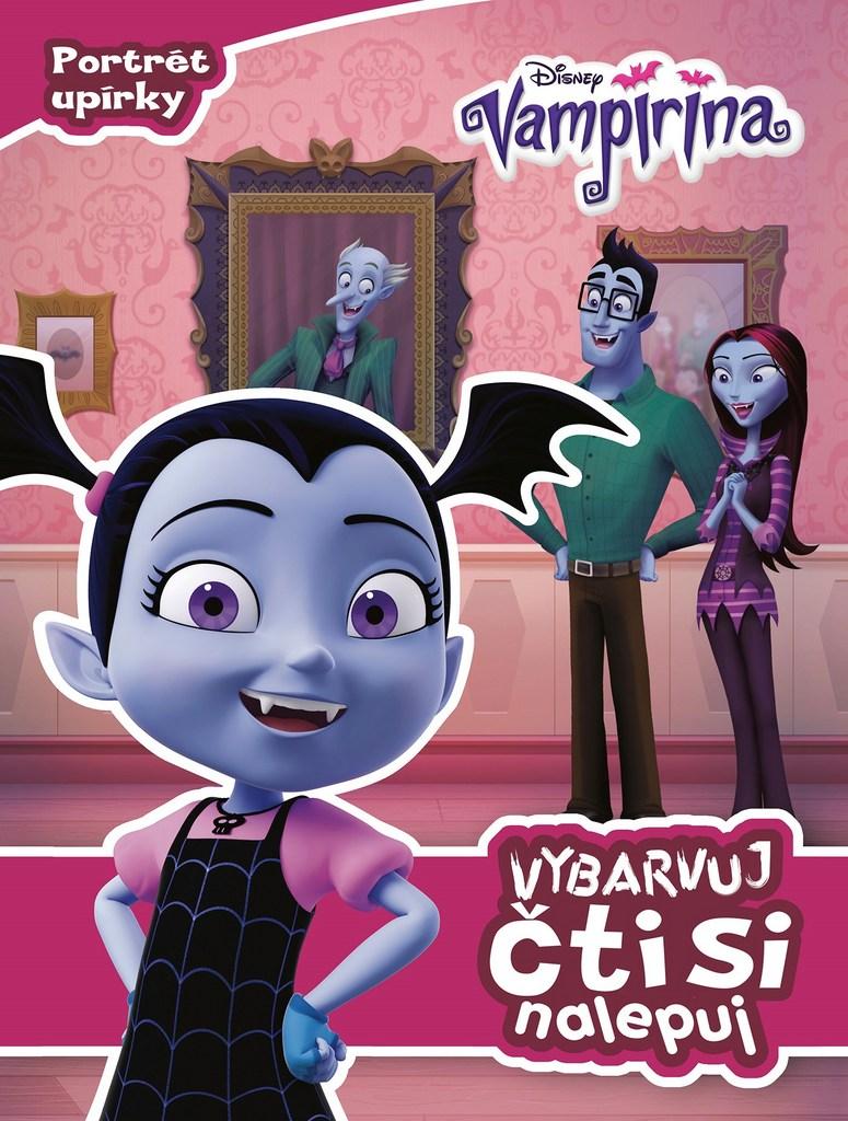 Vampirina Vybarvuj, čti si, nalepuj