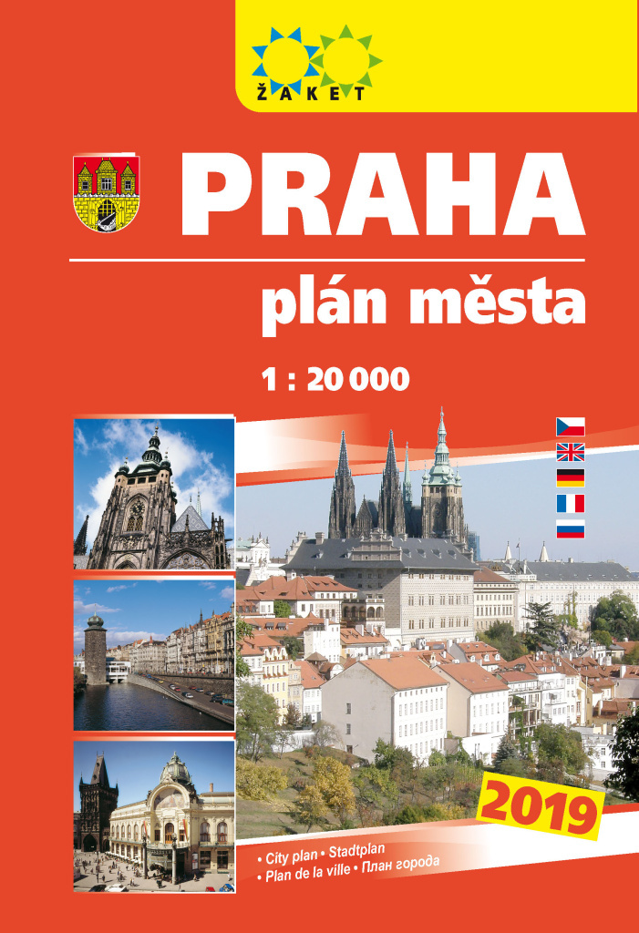 Praha plán města 1:20T knižní 2019