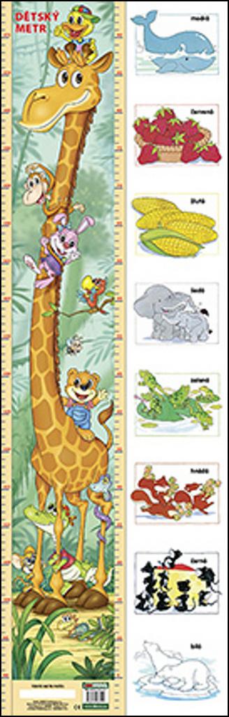 Dětský metr (žirafa + barvy)