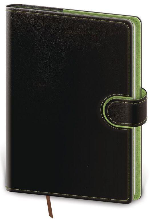 Diář 2021 denní B6 Flip - černo/zelená