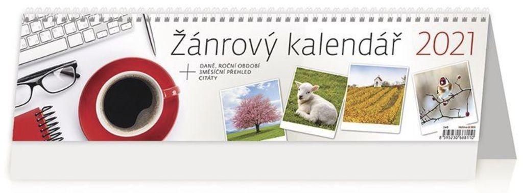 Žánrový kalendář - stolní kalendář 2021