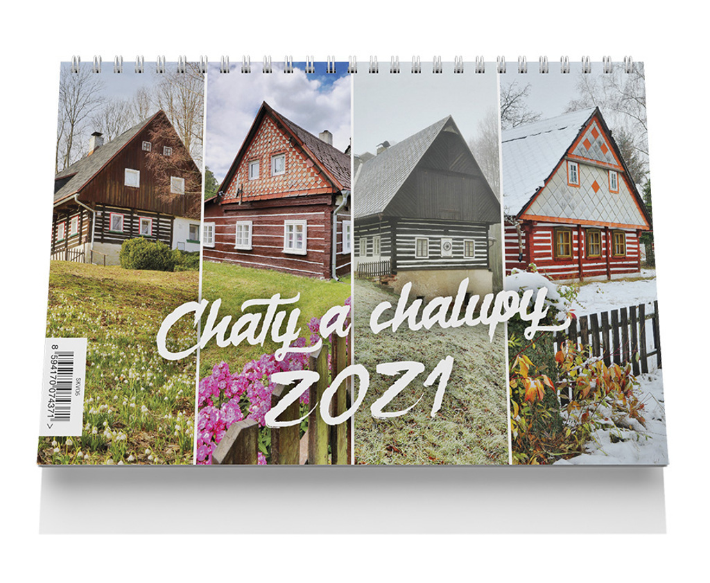Stolní kalendář - Chaty a chalupy 2021
