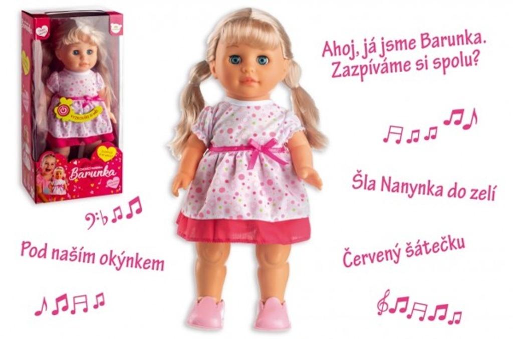 Panenka Barunka chodící a česky mluvící