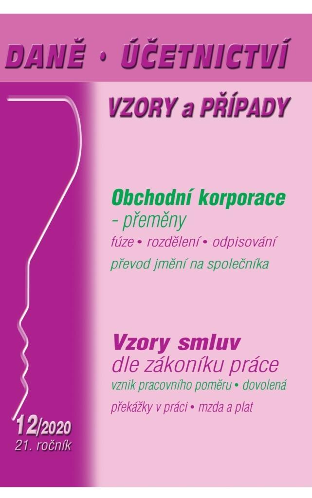 Daně, účetnictví, vzory a případy 12/2020 - Dalimila Mirčevská